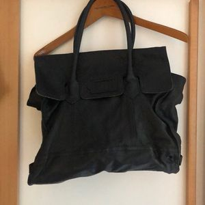 Large Badgley Mischka Leather Bag